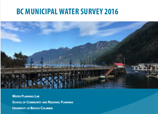 Cover BC Municipal Water Survey 2016